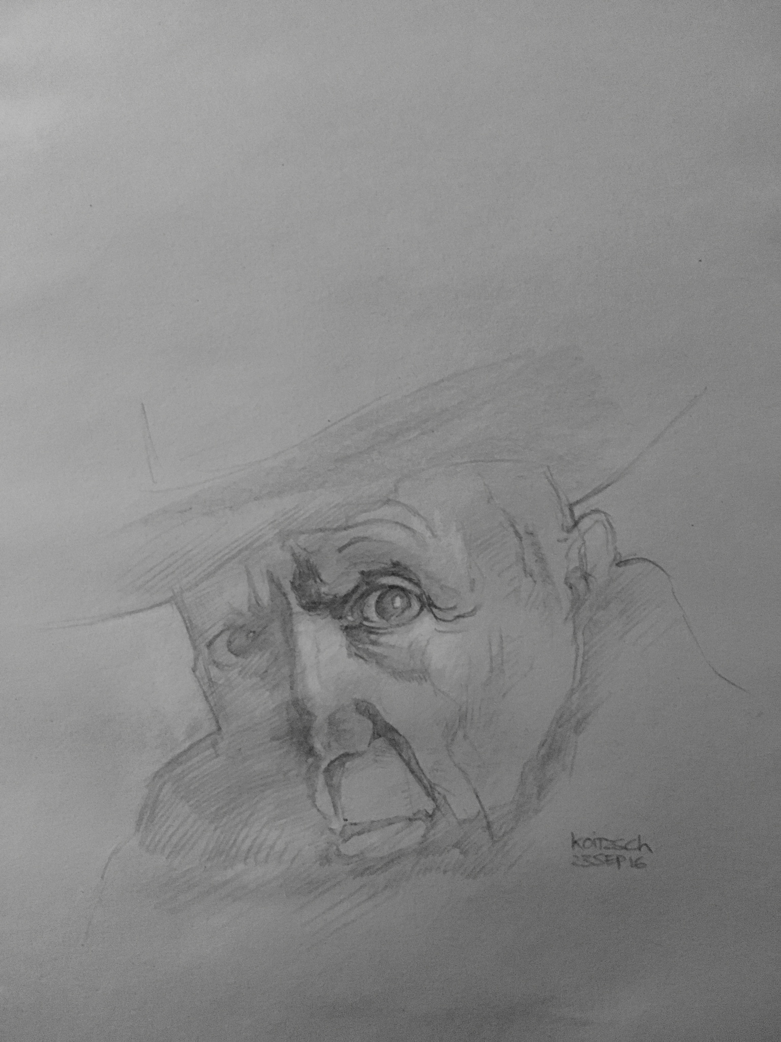 Picasso Pencil Drawing
